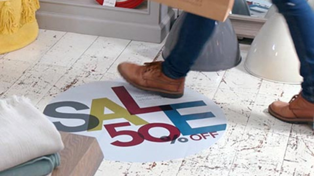 Drytac Keeps People Safe with Floor Graphics