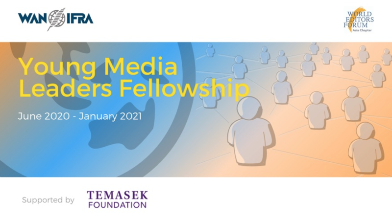 World Editors Forum and Temasek Foundation launch new Young Media Leaders Fellowship Programme