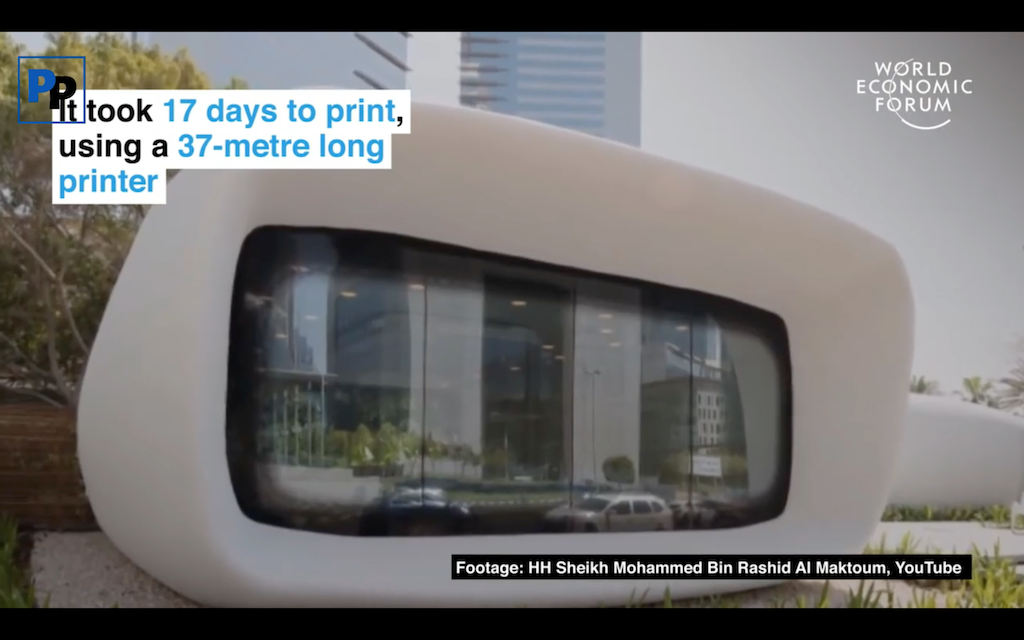 Video: Dubai to 3D-Print a Quarter of Every New Building by 2025