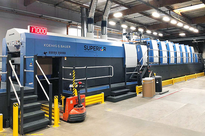 Superior Litho Triples Its Overall Job Throughput With Its New Koenig & Bauer Rapida 145 57-Inch Seven-Color Press