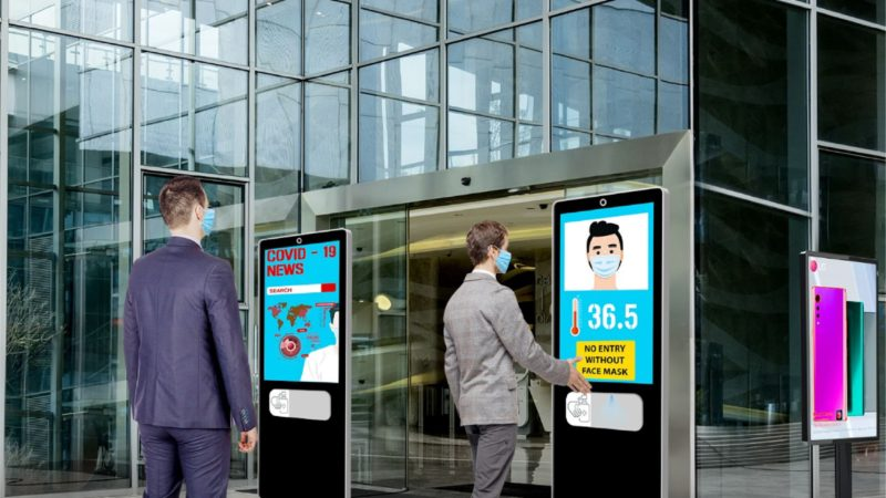 How Digital Signage Can Help Businesses Adopt No Contact Strategies