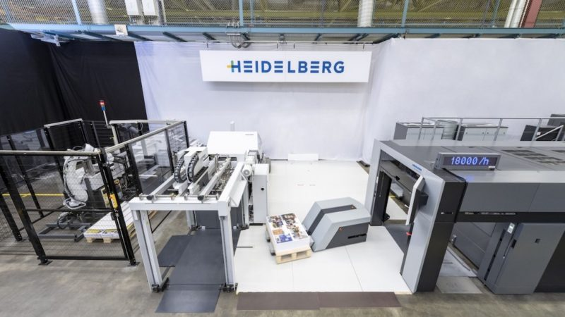 Heidelberg Shows Off Automated Workflow From PDF to Stacked Folded Sheets for the Very First Time