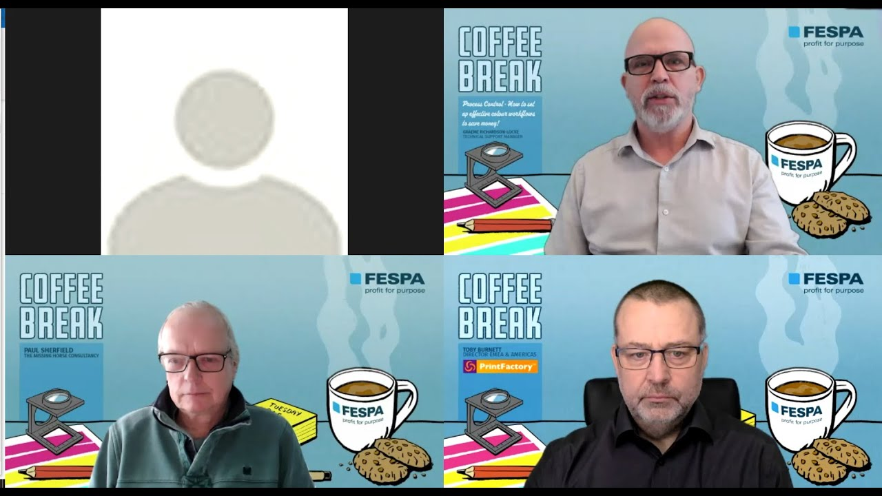 FESPA Coffee Break: Process Control – How to Set Up Effective Colour Workflows to Save Money!