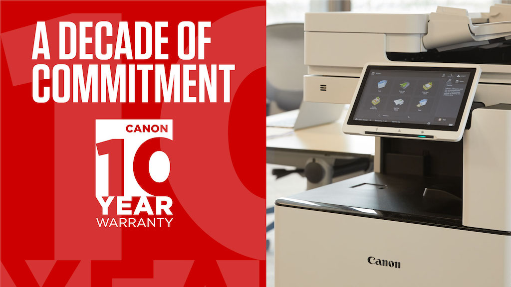Canon Intros a 10-Year Warranty for its imageRUNNER ADVANCE DX