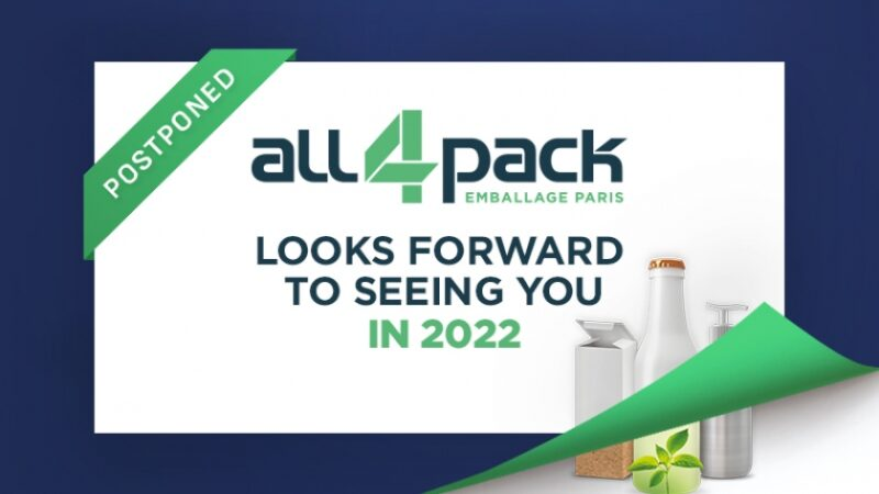 All4Pack 2020 Rescheduled to 2022