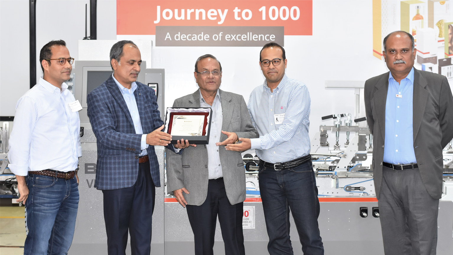 Bobst India Reaches Milestone as 1,000th Folder-Gluer Comes Off Production Line