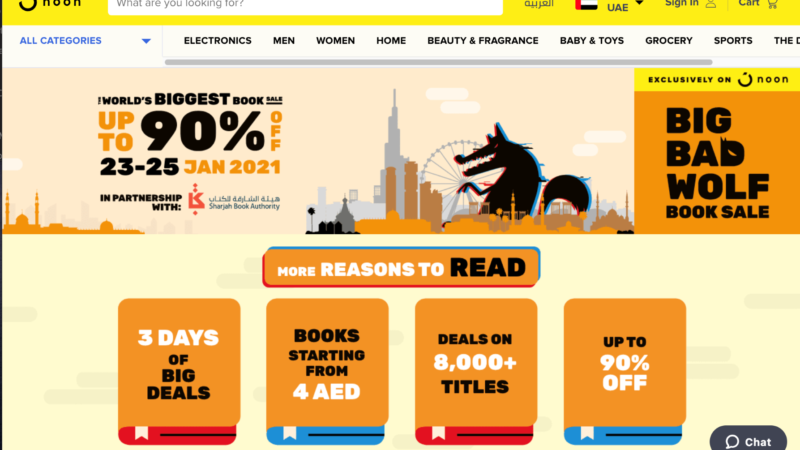 80,000 Books Bought at the 'Big Bad Wolf Online Book Sale UAE'