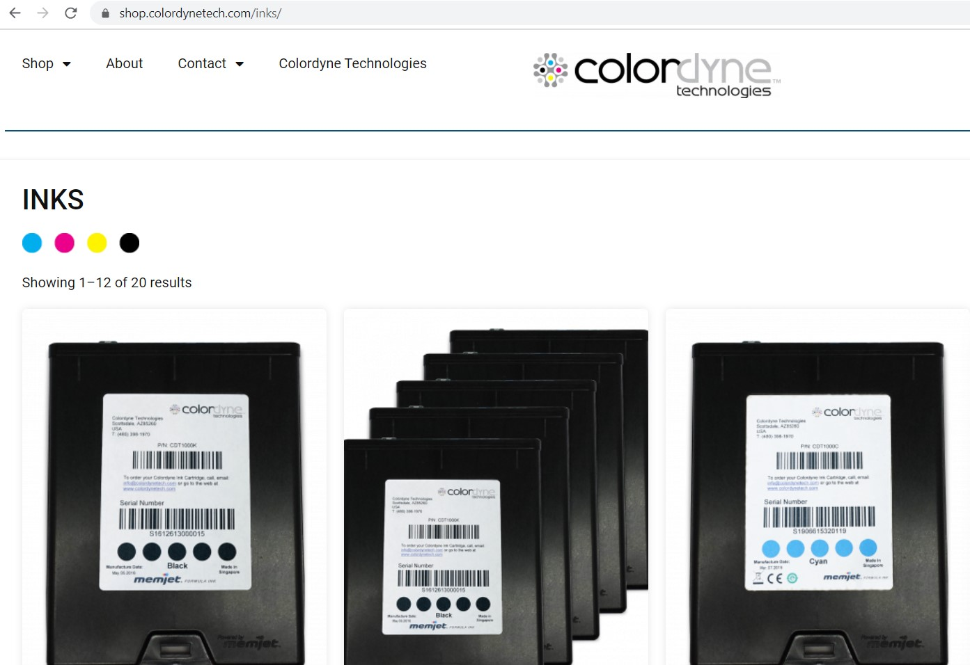 Colordyne Unveils New eCommerce Website