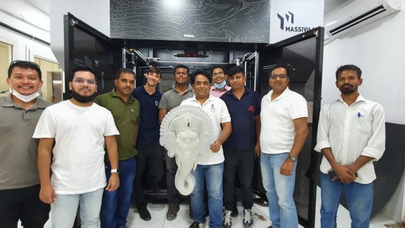 UAE's Out of the Box Installs MASSIVIT 3D Printer