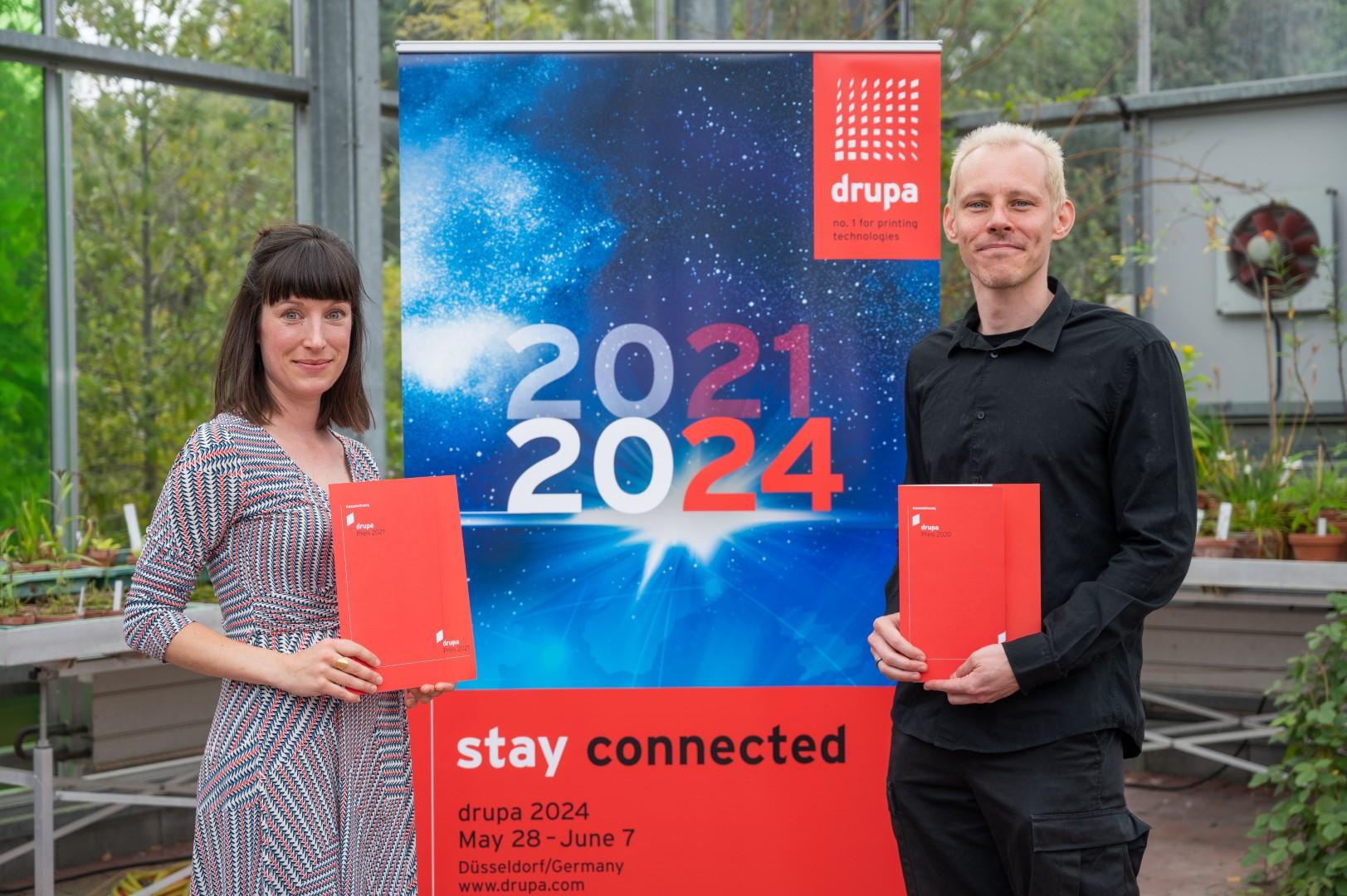Dr. René Baston and Nina Goldt Scoop drupa Prizes 2020 and 2021