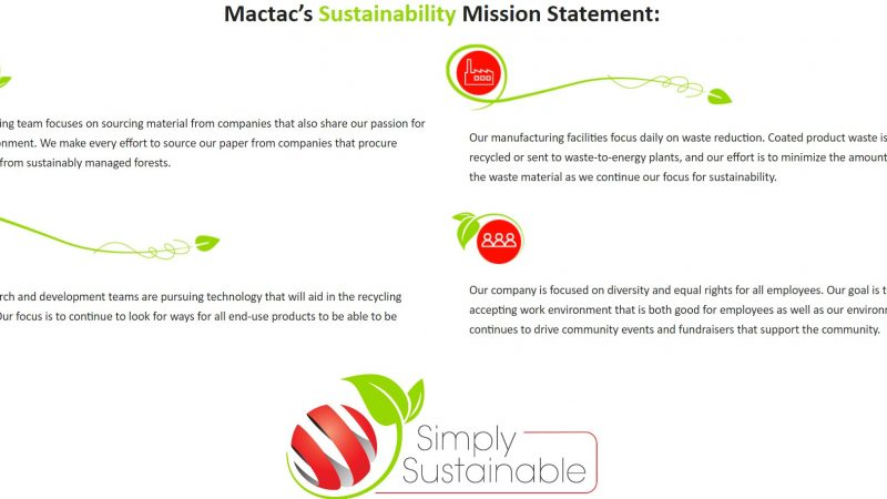 Mactac Graphics Products Launches Sustainable Films Product Line